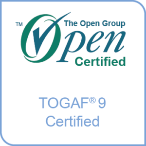 Logo for The Open Group Architecture Framework certification - TOGAF 9