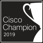 Logo for the Cisco Champions 2019 program